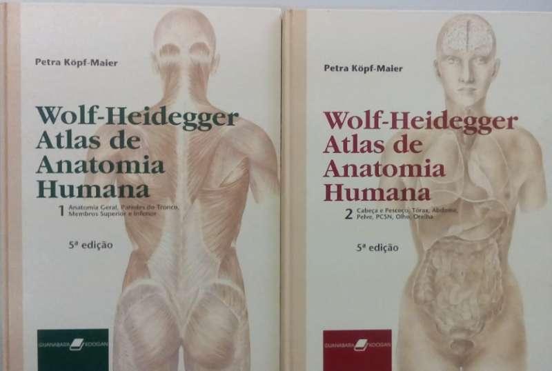 997eb3c6c Wolf Heidegger Atlas de Anatomia Humana 2 Volumes - sebo online Imagem  Ilustrativa